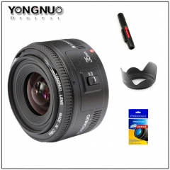 Yongnuo 35mm Lens YN35mm F2 lens Wide-angle Large Aperture Fixed Auto Focus Lens For canon as shown one size
