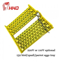 HHD 12V 220V Voltage Hatching Eggs Holding 132pcs 156pcs Quail Parrot Pigeon Bird Brooder as shown