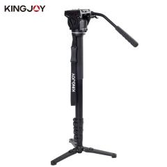 Kingjoy MP3008F+VT-3510 Aluminium Alloy Camera Tripod Folding Monopod as shown one size
