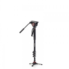 Manfrotto XPRO Monopod Four-Section Aluminum Fluid Video Head Professional Digital as shown one size