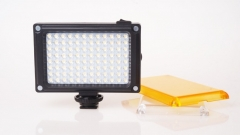 96LED Video Light with filters Hotshoe Photo Lighting on Camera for Canon Nikon Sony Camcorder as shown one size