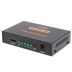 original UHD 3D 4K*2K Full HD 1080p 1X4 HDMI Splitter 4 Ports Hub Repeater Amplifie for HDTV