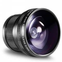 New Photography 58mm AF 0.21X Wide Angle + Fish-eye Lens for Canon Nikon Sony Pentax as shown one size