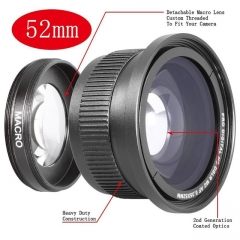0.21x 52mm Wide Angle fisheye LENS for 52 mm 0.21 canon nikon pentax sony DSLR/SLR Digital Camera as shown one size