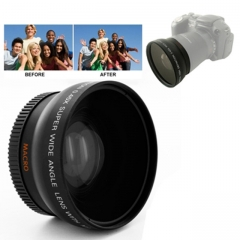 0.45X 52mm Wide Angle Lens with Macro for Nikon Coolpix D40/ D60/ D70s/ D3000/ D3100/ D5000 as shown one size