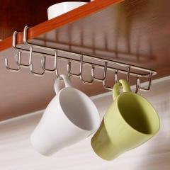 Stainless Steel Kitchen Storage Rack Cupboard Hanging Hook Shelf Dish Hanger Chest Storage shelf as shown one size