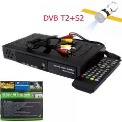 DVB-T2+S2 Combo 2in1 HD Digital Satellite Receiver dvb t2+S2  for Ghana Tanzania Africa