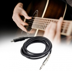 3M Guitar Audio Cable Bass 1/4'' USB TO 6.3mm Jack Link Connection Instrument Cable as shown