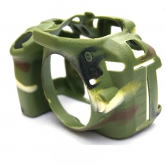 Soft Rubber Camera Body Cover Bag for Nikon D5300 Camouflage Camera Case Cover green one size