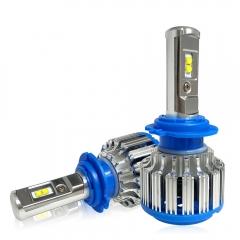 Car Headlight  70W 7000lm Auto Bulb Headlamp 6000K Light as shown H1