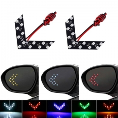 2pcs Arrow Panel For Car Rear View Mirror Indicator Turn Signal Light Car LED Rearview Mirror Light red one size