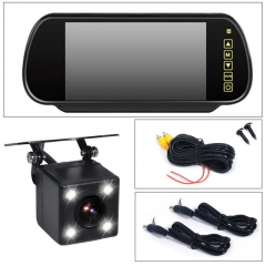 7 inch LCD Rearview Mirror Monitor Backup Rear View Camera LED Night Vision with Full Touch Screen as shown