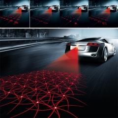 Car Anti-collision Laser Fog Light Auto Anti-fog Parking Signal Indicators LED Warning Light A one size