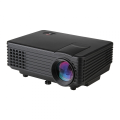 HD Home Projector RD805 LED mini Projector Multiple Inputs VGA/AV/USB 800*480 120 Lumens TV/Game Black one size