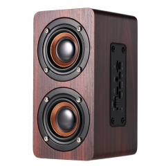 Portable Bluetooth Speaker Wireless Column Home Theatre Wooden Sound Stereo Music Subwoofe Red 10W one size