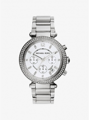 MICHAEL KORS Parker Silver-Tone Watch as shown one size