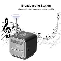 Mini Radio FM Digital Portable Speakers with FM Radio Receiver Support Random