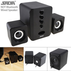 Full Range 3D Stereo 2.1 Subwoofer Wireless Bluetooth PC Speaker as shown one size one size