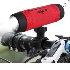 Zealot S1 Bluetooth Speaker Outdoor Bicycle Portable Subwoofer Bass wireless Speakers red one size one size