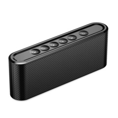 Wireless Bluetooth Speaker Metal Touch Dual Speakers Mini Portable Outdoor HIFI  Loudspeakers black one size one size