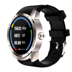 K98H 3G Smart Watch Android 4.4 OS MTK6572A RAM 512MB ROM 4G Support nano SIM Card GPS silver one size
