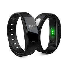 Smart Bracelet Fitness Band Heart Rate QS80 Pulse Blood Pressure Tracker Watch black one size