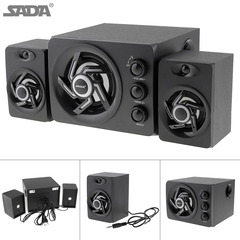 Colorful LED Light Desktop Computer Speaker With Subwoofer Perfect 2.1 black one size one size