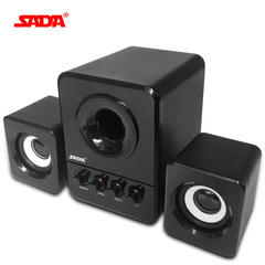 SADA Wired Mini Portable Combination Speaker Column Computer Speaker USB 2.1 Bass Cannon 3W black one size one size
