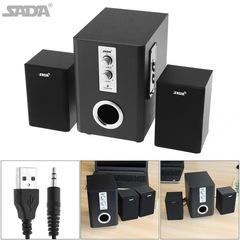 SADA Combination Wooden Subwoofer Speaker Column Computer Speaker with TF USB Bluetooth as shown one size one size