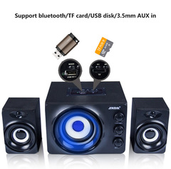 SADA Q2 Bluetooth LED Flashing Light Stereo Bass Computer USB Speaker black one size one size