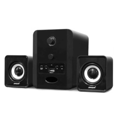 SADA Mini Stereo Combination Speaker Portable Column Subwoofer Computer Speaker Support TF Card Play black one size one size