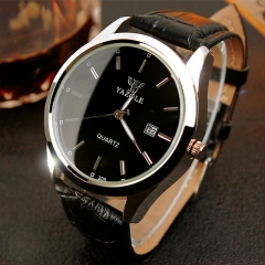 Men Watch Auto Date Business Quartz Watch Waterproof WristWatch Luminous Clock Valentines Gift black black one size