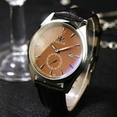 2018 Men Watch Luxury Auto Date Business Quartz Watch Male Luminous Clock Wristwatch Valentines Gift brown brown one size