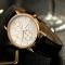 Luminous Men Watch Luxury business Male Quartz WristWatch Leisure Leather Clock Valentines Gift white black one size