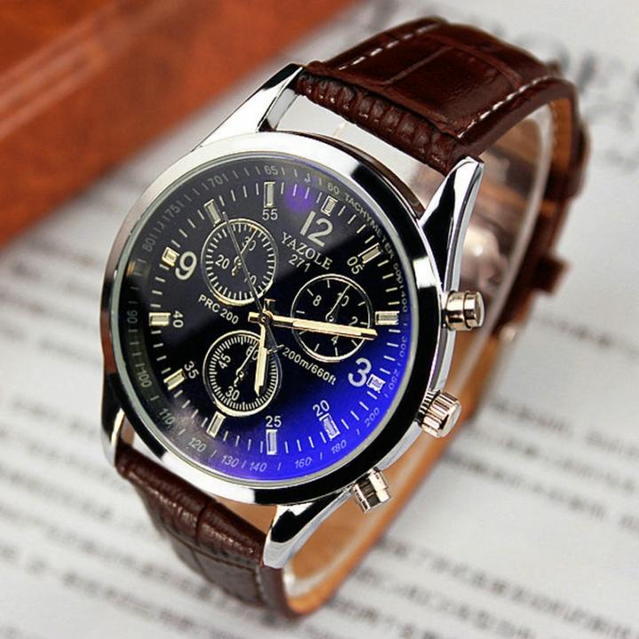 2019men watches Men Business Wristwatch Luxury Famous Male Clock Sports Quartz Watch Valentines Gift black brown one size