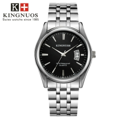 Men Watch Waterproof Date Calendar  Male Stainless Steel Watches Quartz WristWatch Valentines Gift black one size