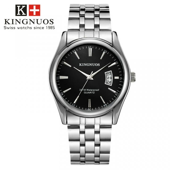 Men Watch Waterproof Date Calendar  Male Stainless Steel Watches Quartz WristWatch Valentines Gift black one size