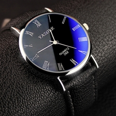 Mens Watches Luxury Men Fashion Business Quartz watch clock Male WristWatches Valentines Gift black black one size
