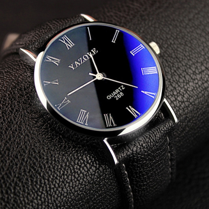 Mens Watches Luxury Men Fashion Business Quartz watch clock Male WristWatches Valentines Gift black black one size