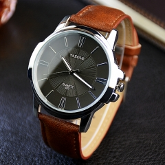 Watch Men Top Brand Luxury Famous 2018 Wristwatch Male Clock Wrist Watch Business Quartz watch black brown one size