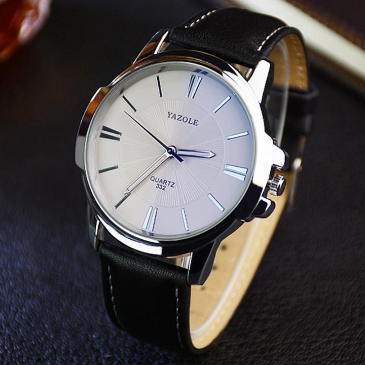 Watch Men Top Brand Luxury Famous 2018 Wristwatch Male Clock Wrist Watch Business Quartz watch white black one size