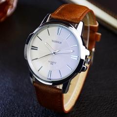 Watch Men Top Brand Luxury Famous 2018 Wristwatch Male Clock Wrist Watch Business Quartz watch white brown one size