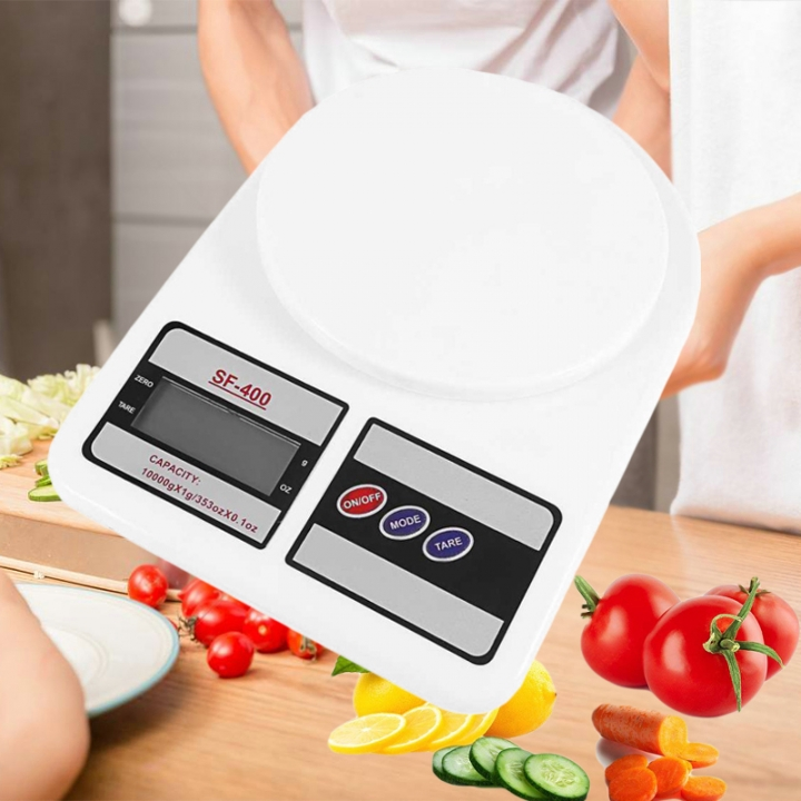 2018 New Digital Kitchen Scales Food Scale Libra Balance Weight Electronic Scale for Diet 10Kg x 1g white as picture