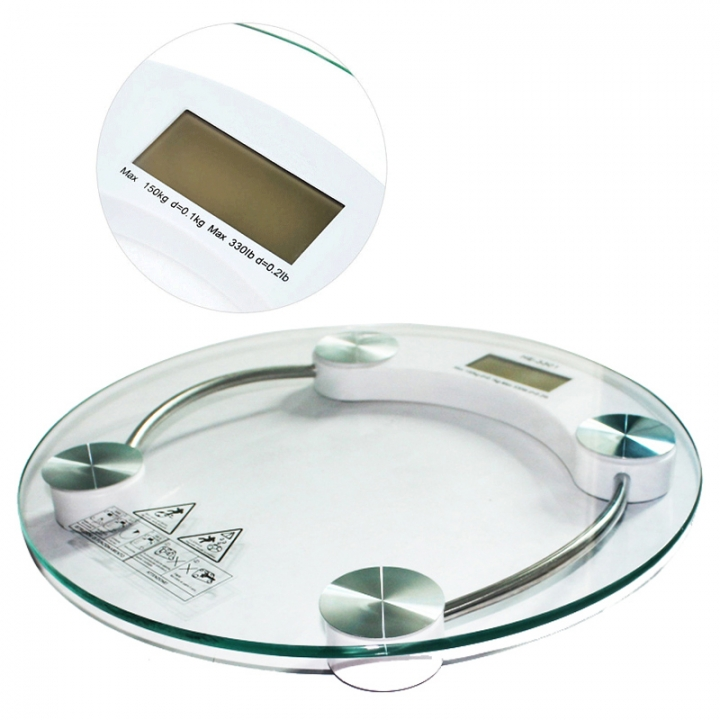 2019 New Digital Body Weight Scale With Home Health Scale Electronics Weighing Scale Tempered Glass white one