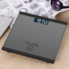 Weighing scale for body Electronic Digital Floor Bathroom Weigh Scale LCD Display Backlight180kg/50g black 25*25cm