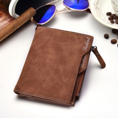 Wallet Men Soft Leather wallet with removable card slots multifunction men wallet purse male clutch brown one