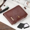Men Wallets Short Small Wallets pu leather Male Mens Purses Card Holder with Photo Holders gift brown 2 one