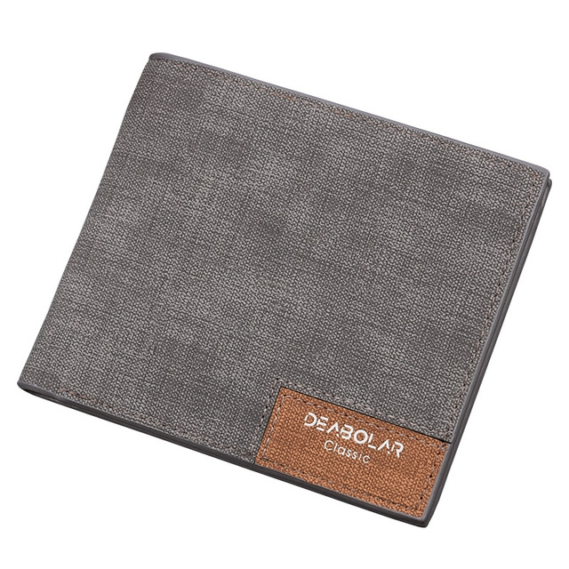 caa8c7e95221 ... leather Wallets Thin Money Dollar Card Holder Purses for Men gift gray  one  Product No  1872577. Item specifics  Seller SKU FQB1007ga  Brand