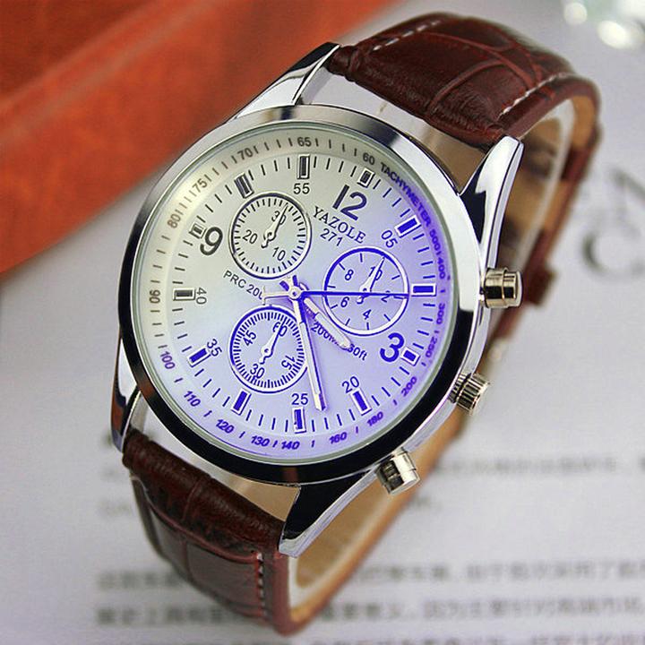 2019men watches Men Business Wristwatch Luxury Famous Male Clock Sports Quartz Watch Valentines Gift white brown one size