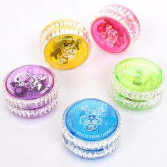 LED Flashing Magical Yoyo Ball Toys For Kids Colorful Plastic Easy To Carry Random